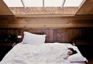 guest bed in attic