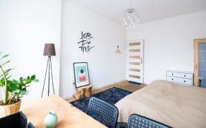 guest bed in livingroom