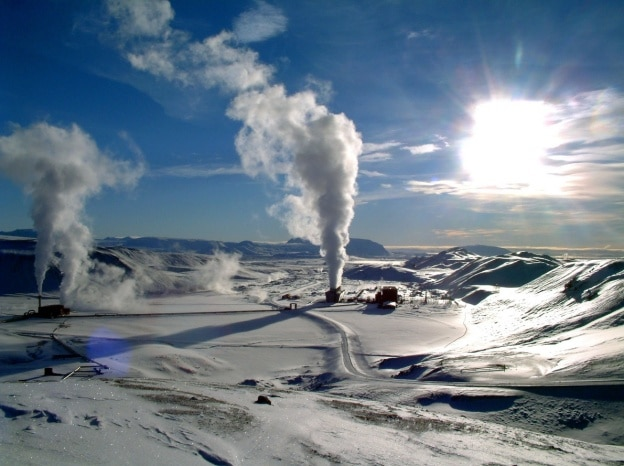 geothermal plant in arctic
