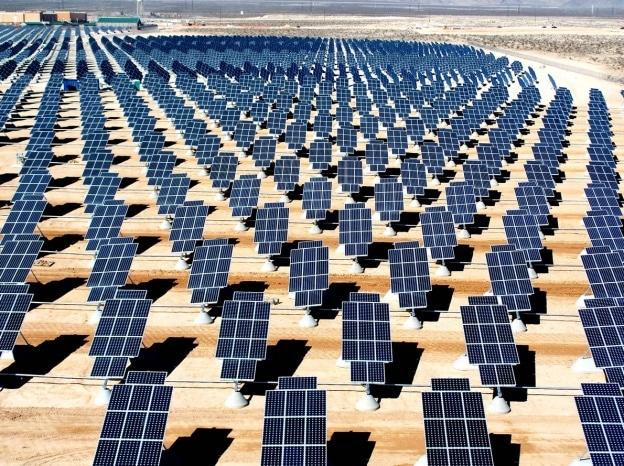 solar panel array outdoors