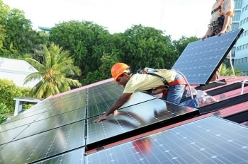 solar panels for home install