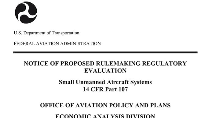 FAA proposed drone regs